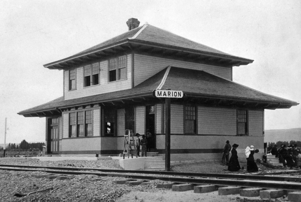This was a one time luxurious depot at Marion, Idaho, near Oakley.