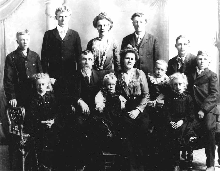 Benajamin and Eliza Bell Tolman and 10 of 11 Children