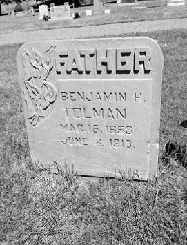 Benjamin Hewitt Tolman II Gravestone