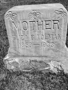 Eliza Belle Grant Tolman Gravestone