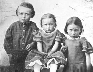 Left to Right-Benjamin Hewitt Tolman II, Emma Mariah Tolman, Polly Jane Tolman