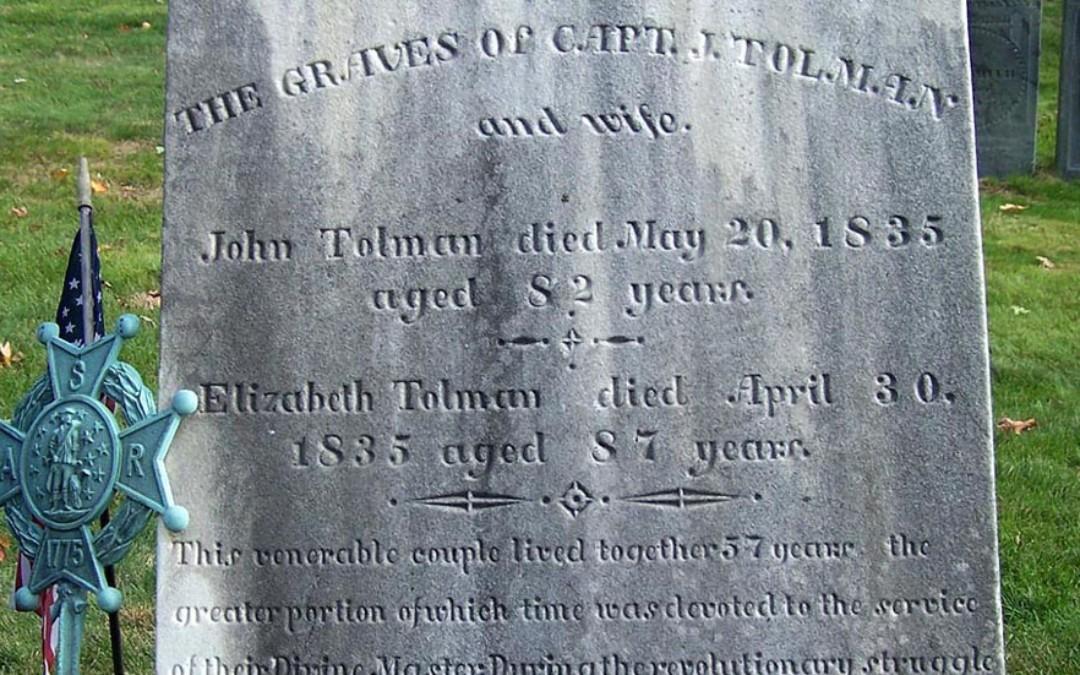 Revolutionary War Record of John Tolman (1753-1835)