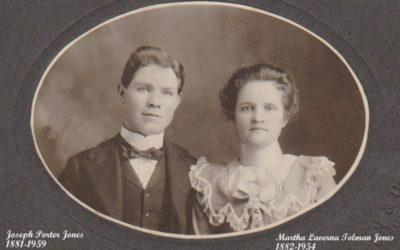Martha LaVerna Tolman and Joseph Porter Jones History