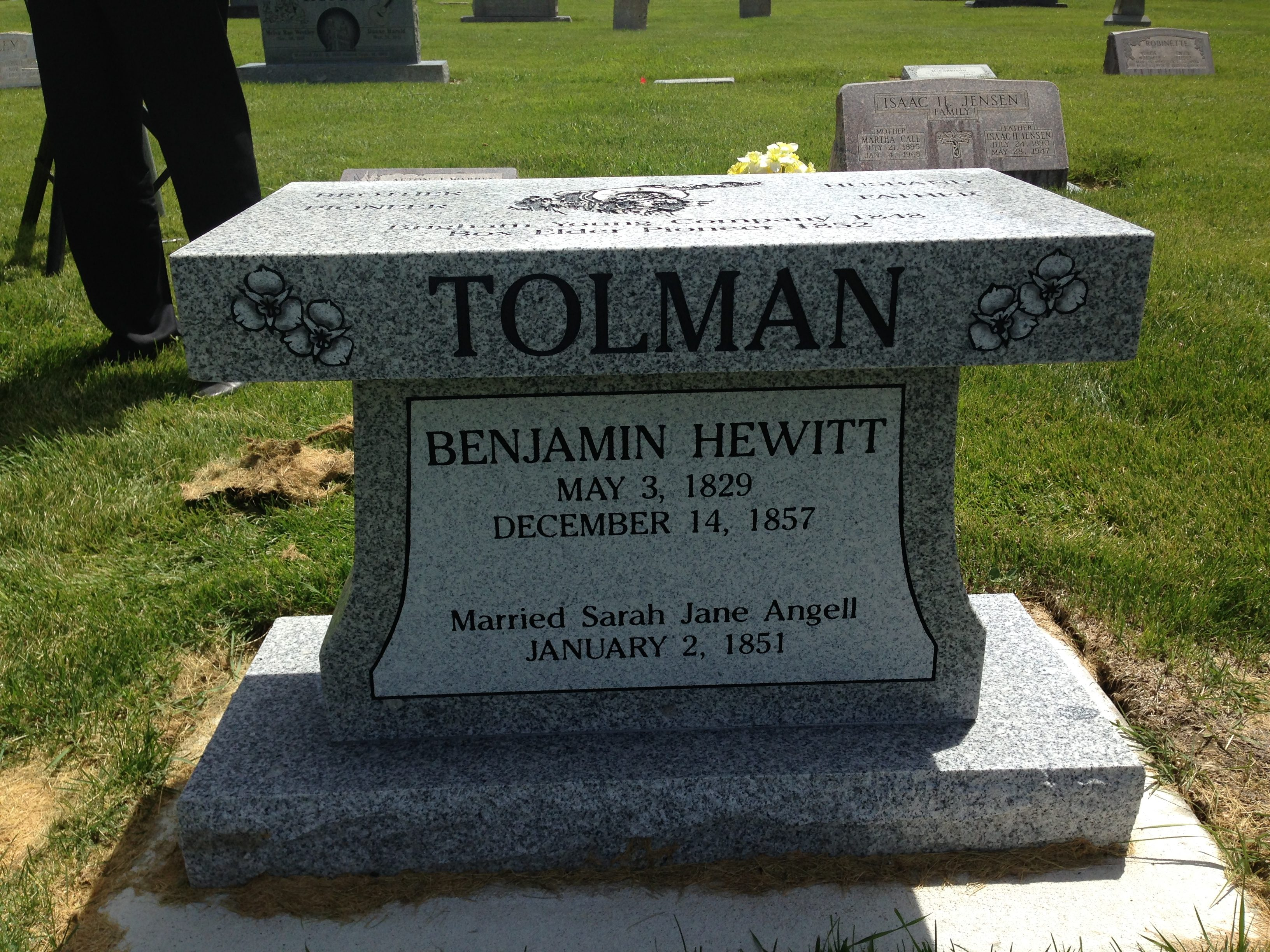 Memorial for Benjamin Hewitt Tolman
